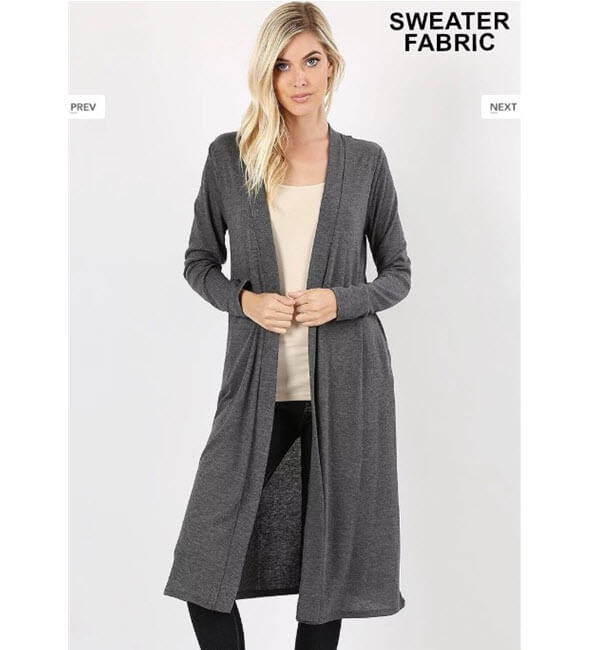 Duster Cardigan Charcoal